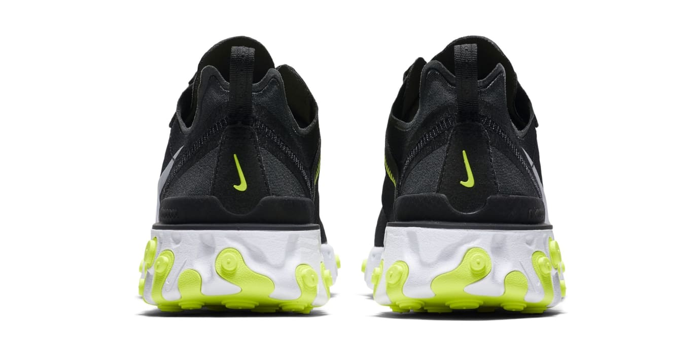 Nike React Element 55 'Black/Cool Grey/White/Volt' (Heel)