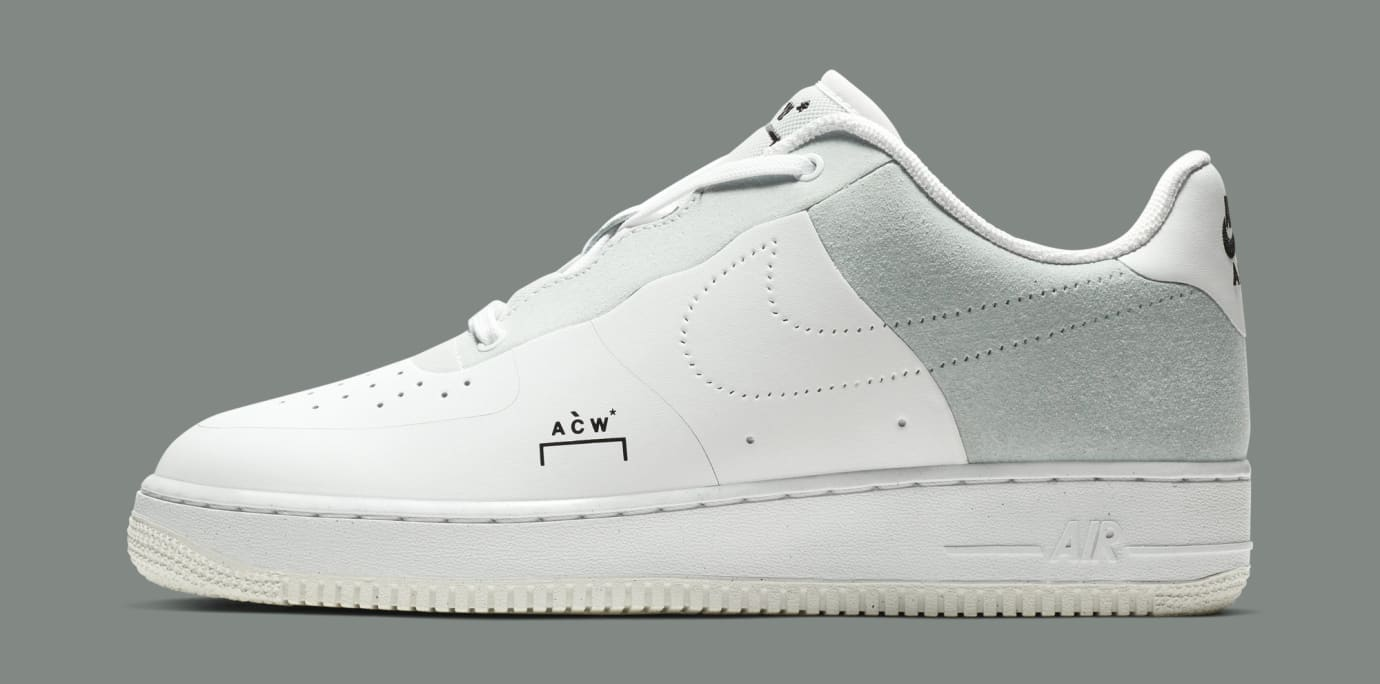 A-Cold-Wall* x Nike Air Force 1 Low 'White/Light Grey-Black' BQ6924-100 (Lateral)
