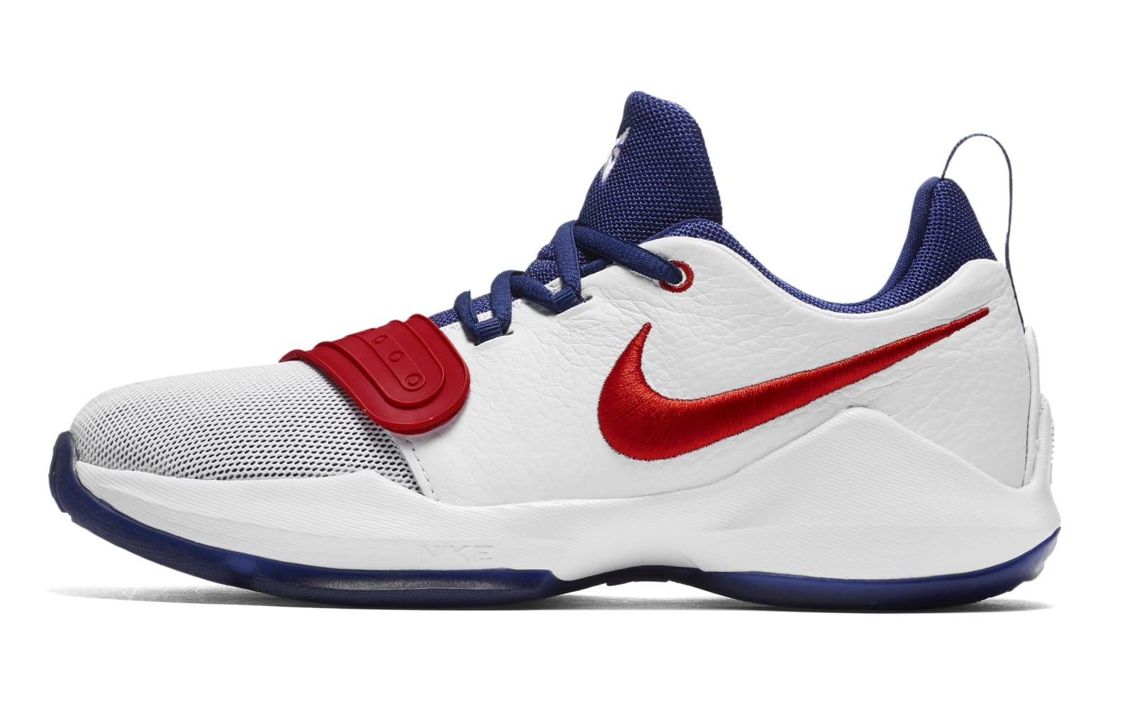 Nike PG 1 GS White/University Red-Deep Royal Blue (Lateral)
