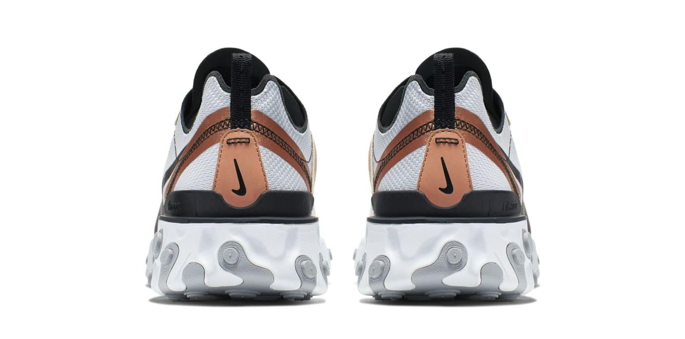 926e2a9113aa5 Image via US11 · Nike React Element 55  Light Grey Black-Metallic Gold   (Heel)