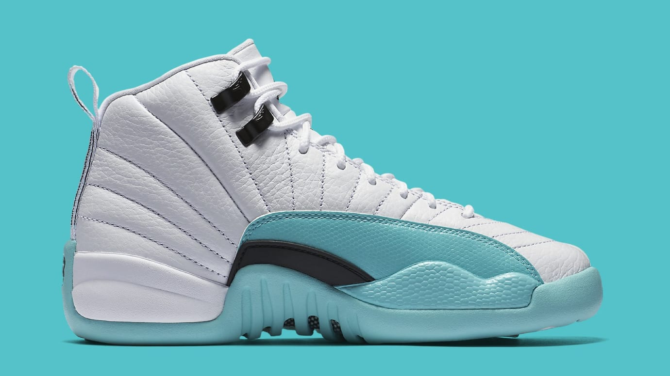 047f25dd9b504d Air Jordan 12 Retro GG  White Light Aqua-Black  510815-100 Release ...