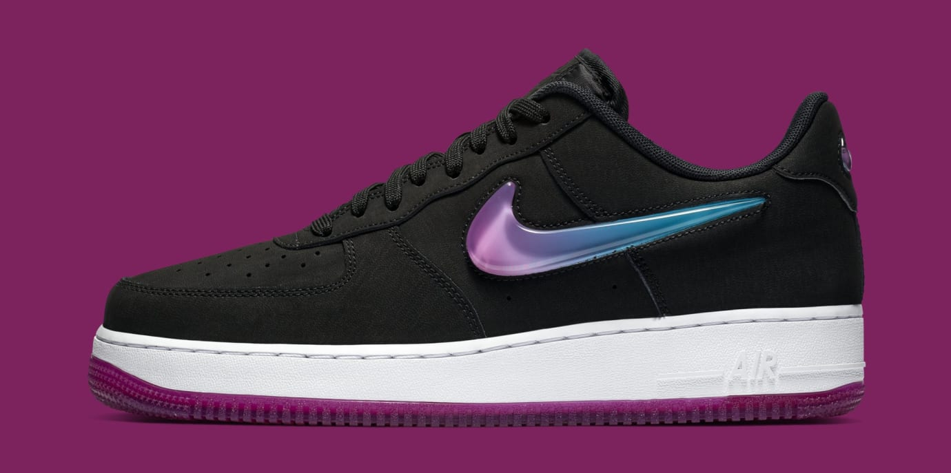 a3c07f9794050 Nike Air Force 1 Low Jewel  Black Active Fuchsia-Blue Lagoon-White ...