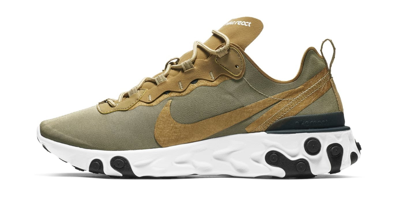 Nike React Element 55 'Olive' (Lateral)