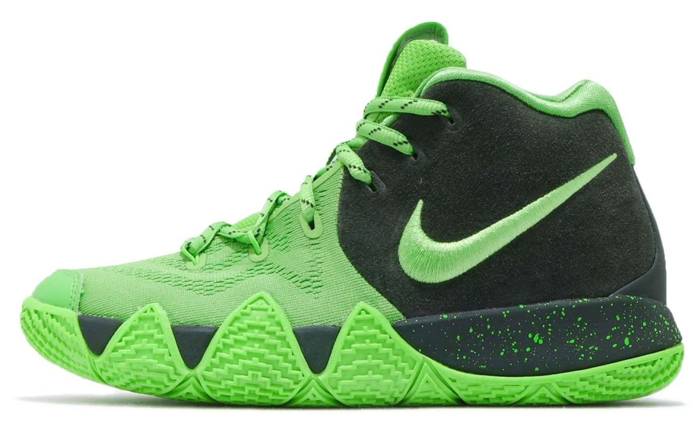 Nike Kyrie 4 GS Spinach Green Release Date AA2897-333 Profile
