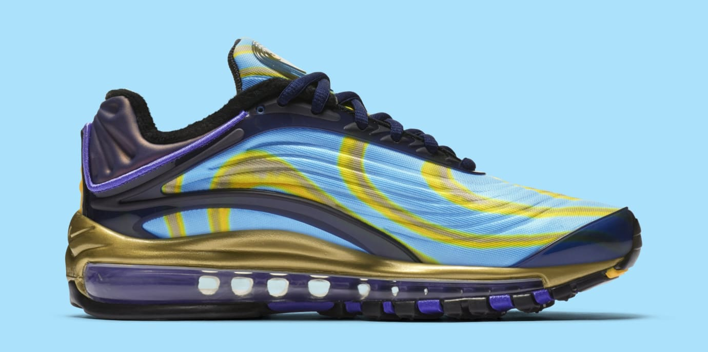 02a930cc0950 Image via Nike Nike Air Max Deluxe  Midnight Navy Laser Orange  AQ1272-400  (Medial