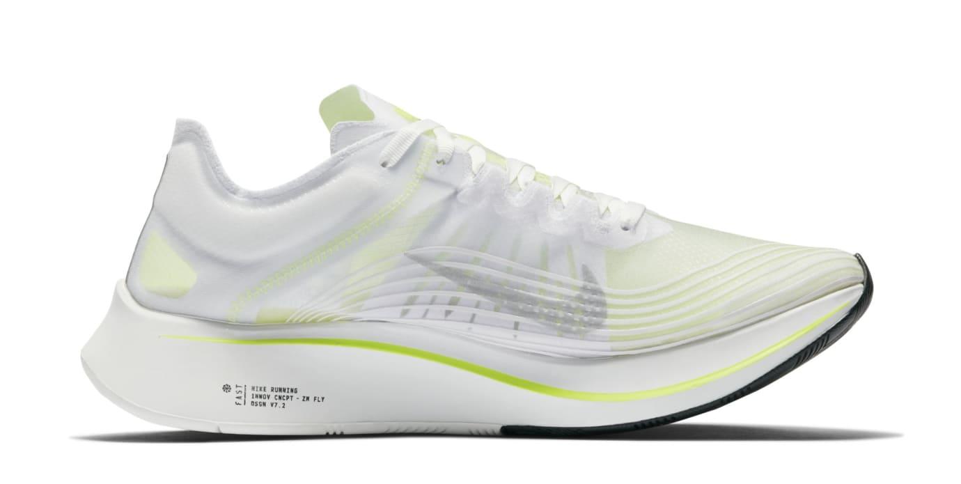 Nike Zoom Fly SP 'White/Volt/Glow' AJ9282-107 (Medial)