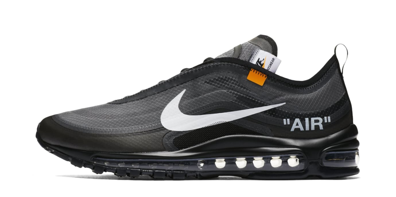 Off-White x Nike Air Max 97 'Black/Cone/Black/White' AJ4585-001 (Lateral)