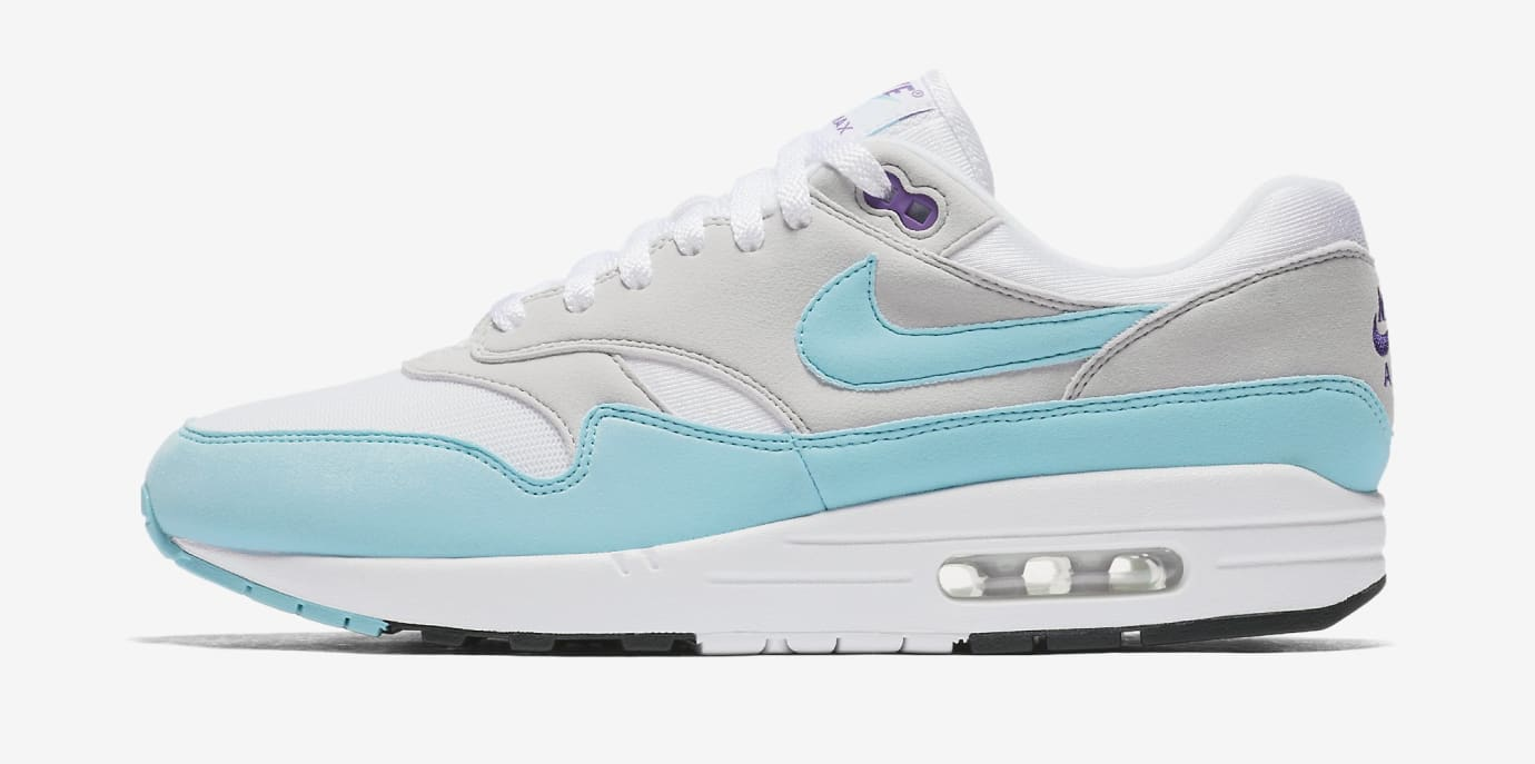 save off 093f0 bbdbd Nike Air Max 1 Anniversary  Aqua  908375-105 (Lateral)