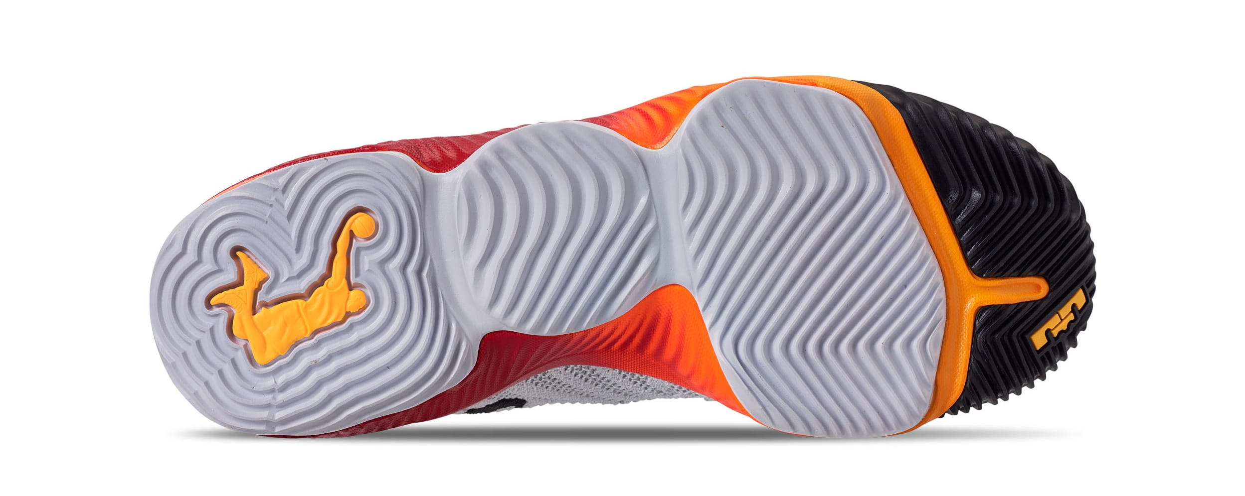 newest eaa13 d4717 Nike LeBron 16 Boys 'White/Laser Orange' AQ2465-188 Release ...
