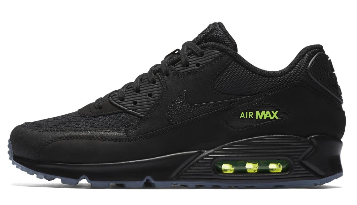 Nike Air Max 90 'Black/Volt' AQ6101-001 (Lateral)
