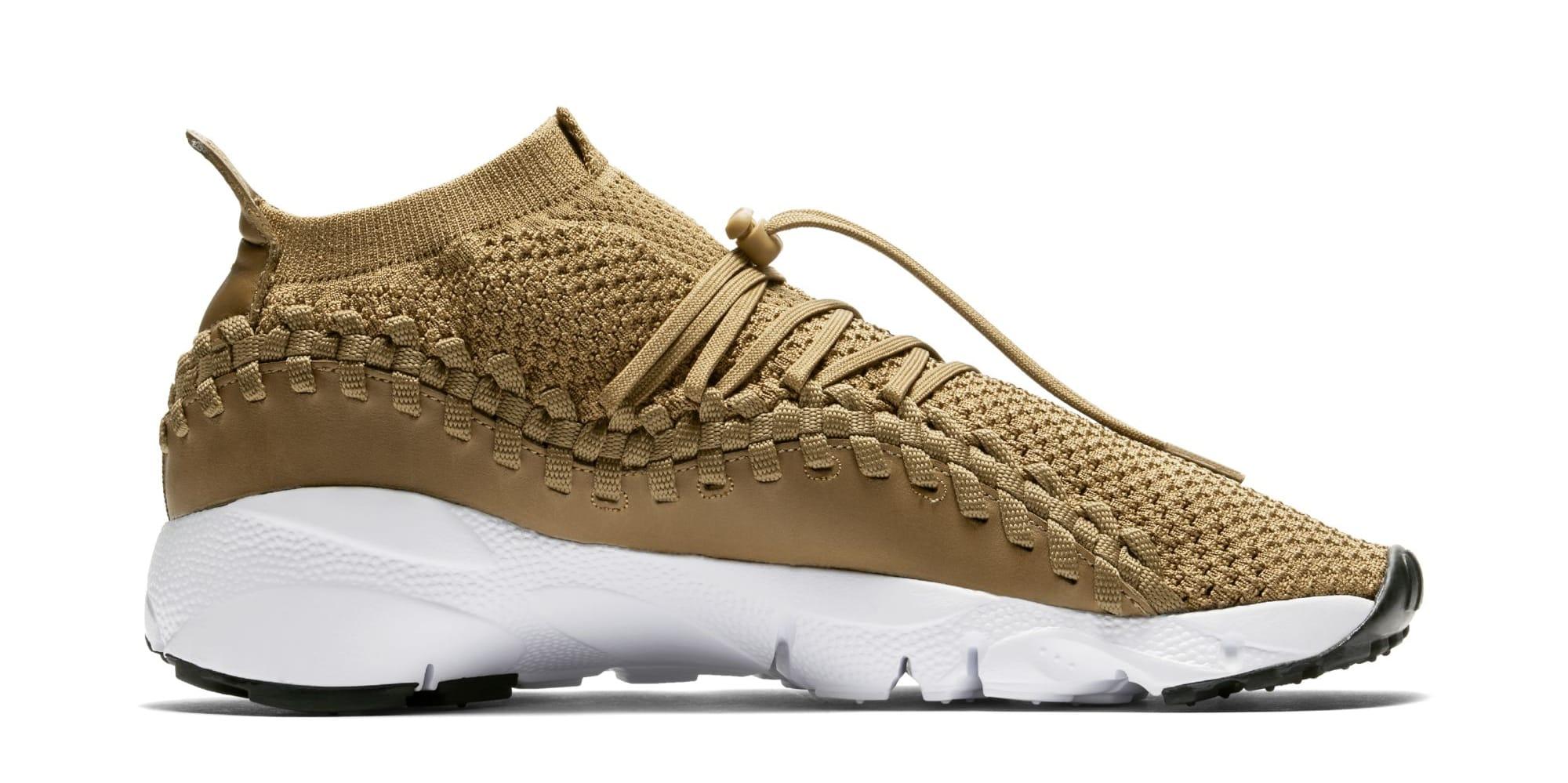 Nike Footscape Woven Chukka Flyknit 'Golden Beige' AO5417-400 (Medial)