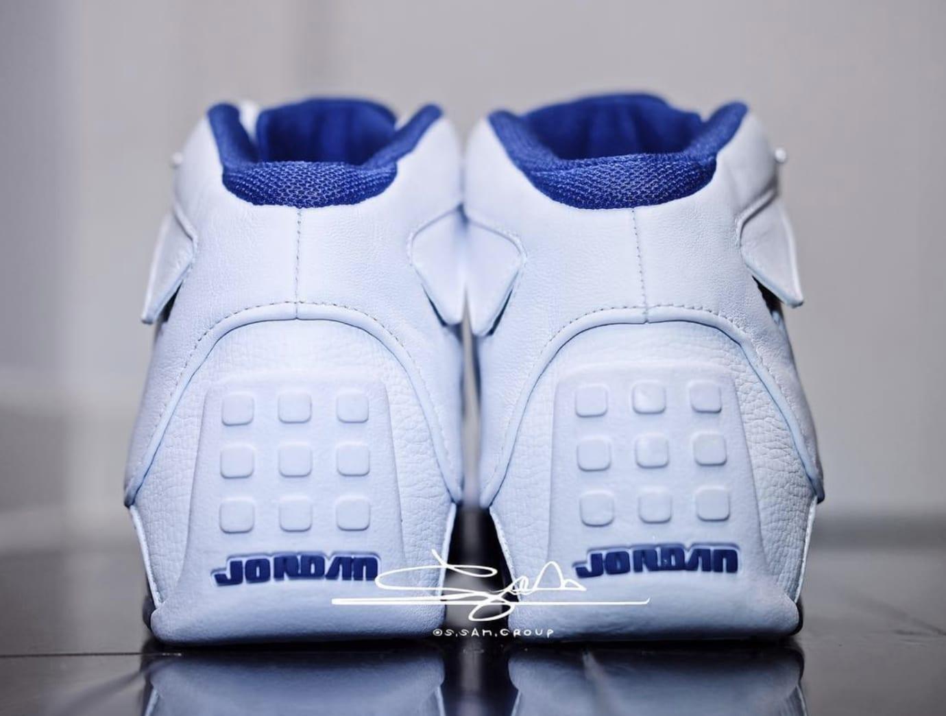 Air Jordan 18 White/Sport Royal-White-Metallic Silver AA2494-106 (Heel)