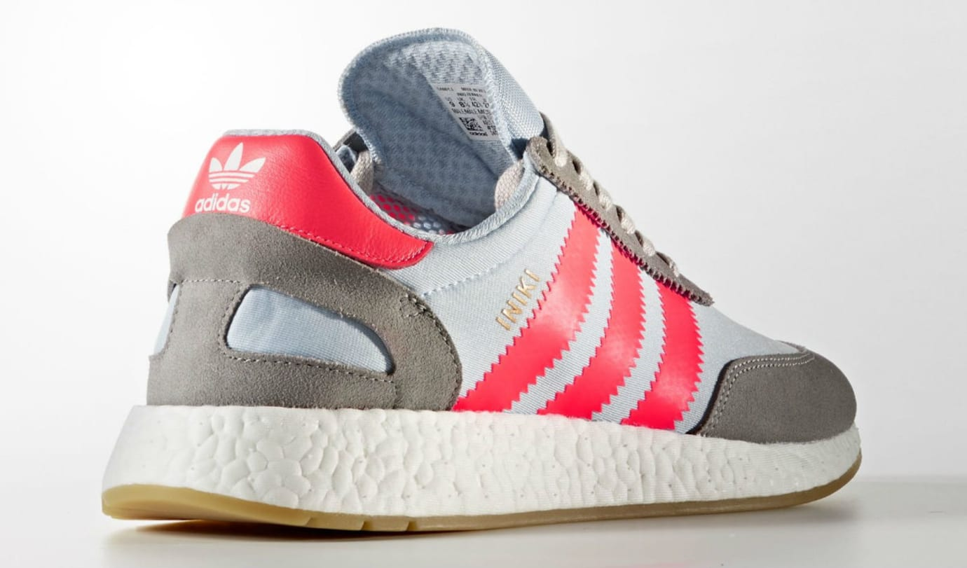 Adidas Iniki Solid Grey Turbo Release Date Heel BB2098