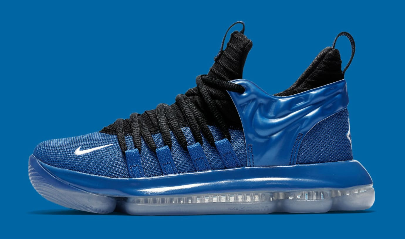 Nike KD 10 GS Foamposite Royal Release Date AJ7220-500 Profile