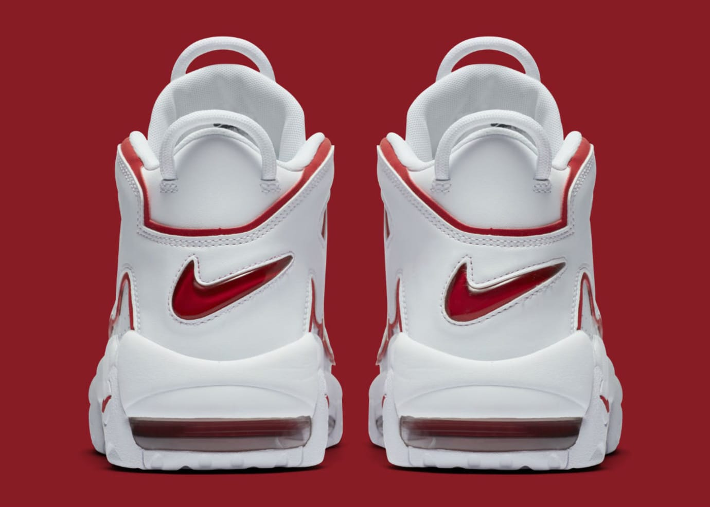 Nike Air More Uptempo Varsity Red Release Date 921948-102 Heel