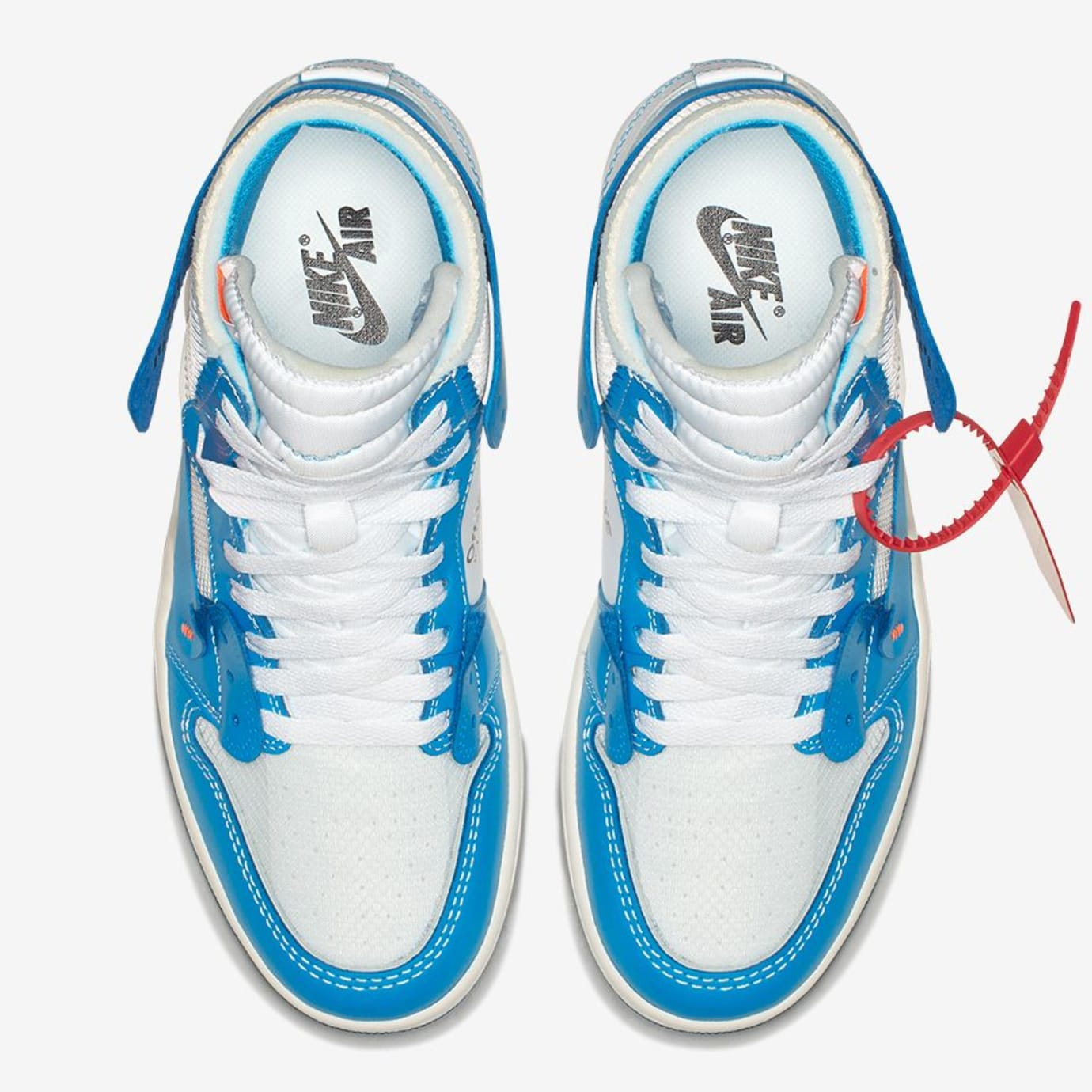 cee1a4996ad388 Image via Nike Off-White x Air Jordan 1 UNC Release Date AQ0818-148 Top