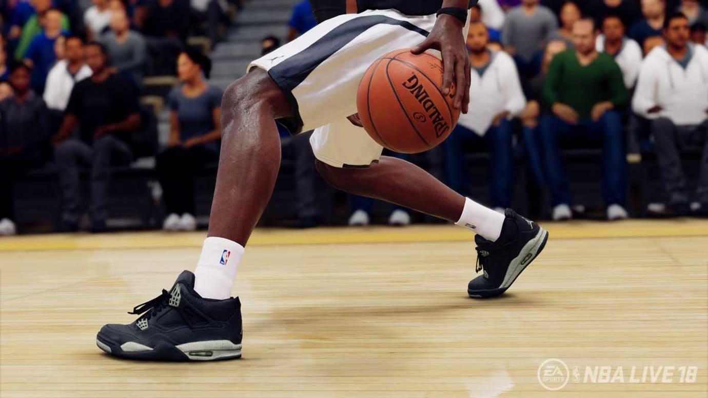 Air Jordan 4 Oreo NBA Live 18