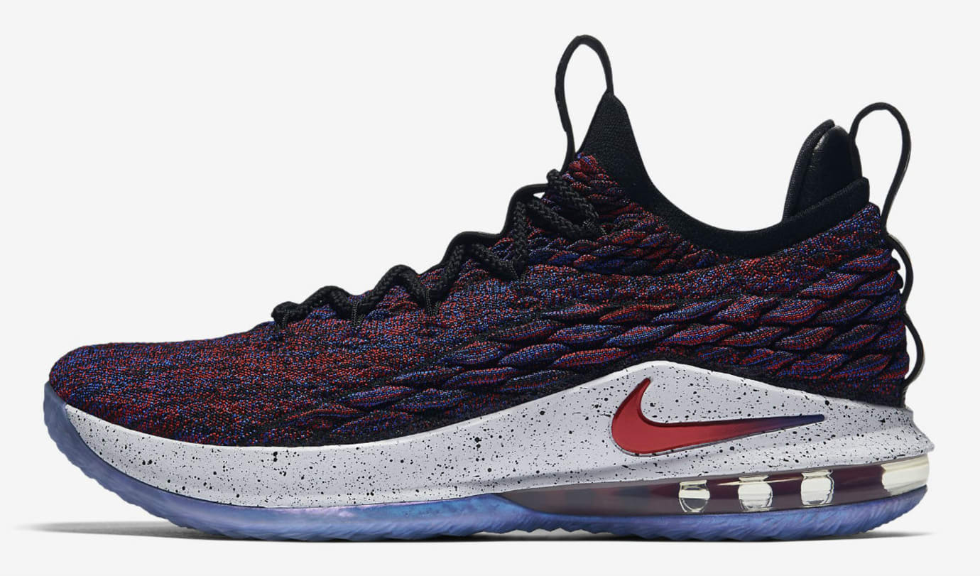 d7d323830308ed Nike LeBron 15 Low Multicolor University Red Black White Release Date  AO1755-900 Profile