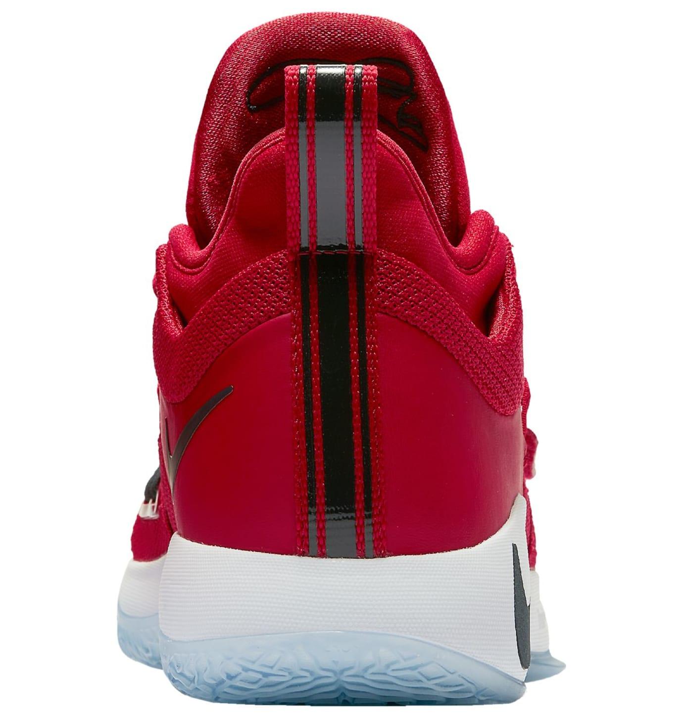 Nike PG 2.5 'Fresno St. Bulldogs' Gym Red/Dark Obsidian-White (Heel)