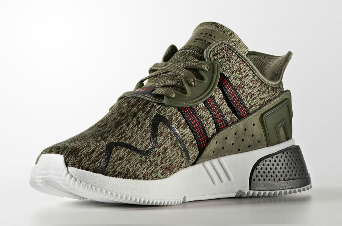 Adidas EQT Cushion ADV Olive Camo Release Date AC7722 Medial