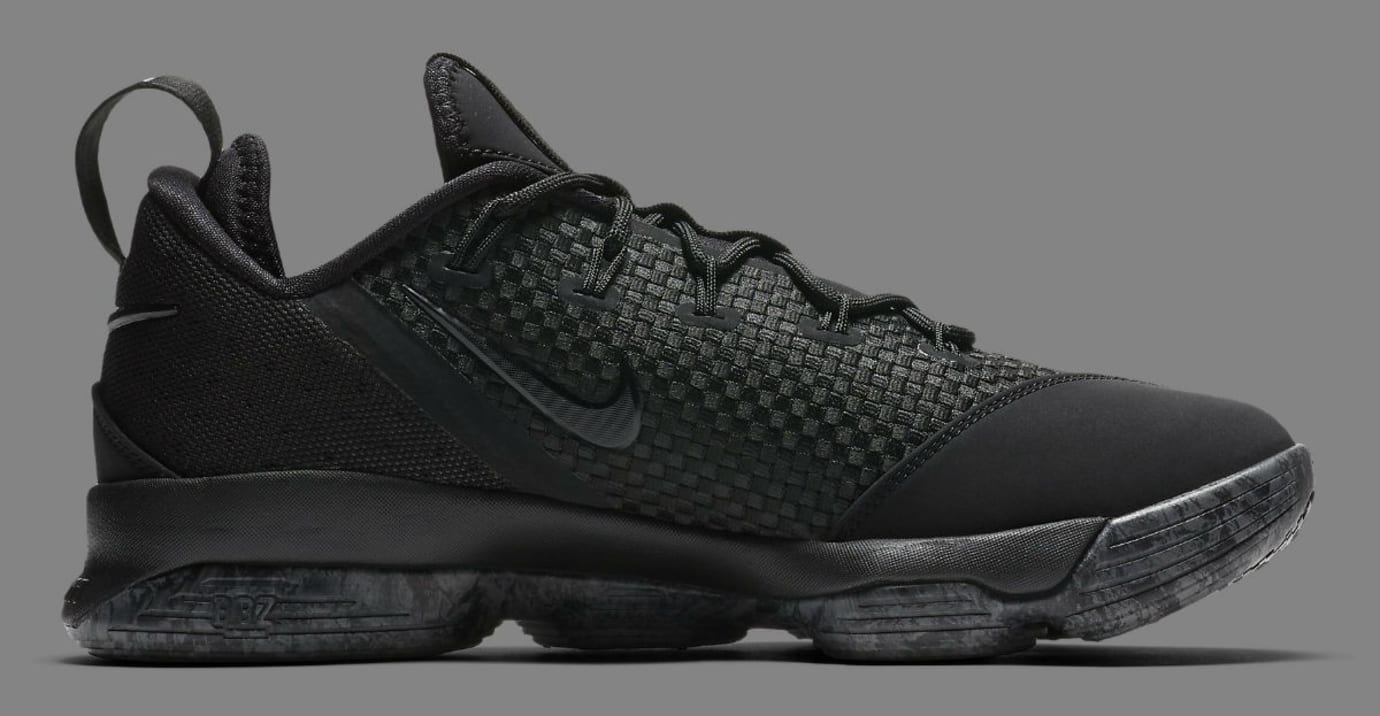 773bb8803524 Nike LeBron 14 Low Triple Black Release Date Medial 878635-002