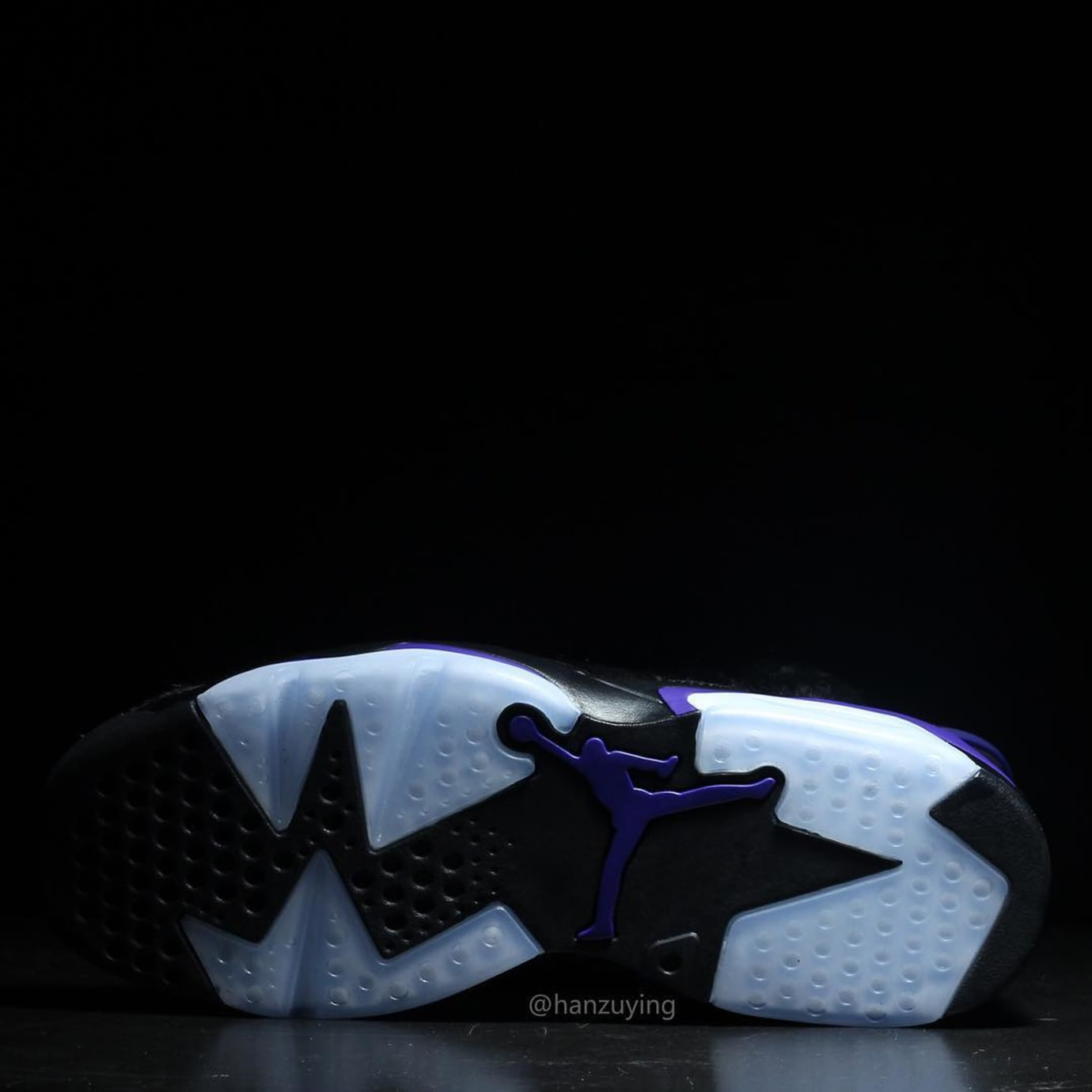 8486a3b83bb Image via hanzuying · Air Jordan 6 VI Cow Fur Snakeskin Black Purple  Release Date AR2257-005 Sole