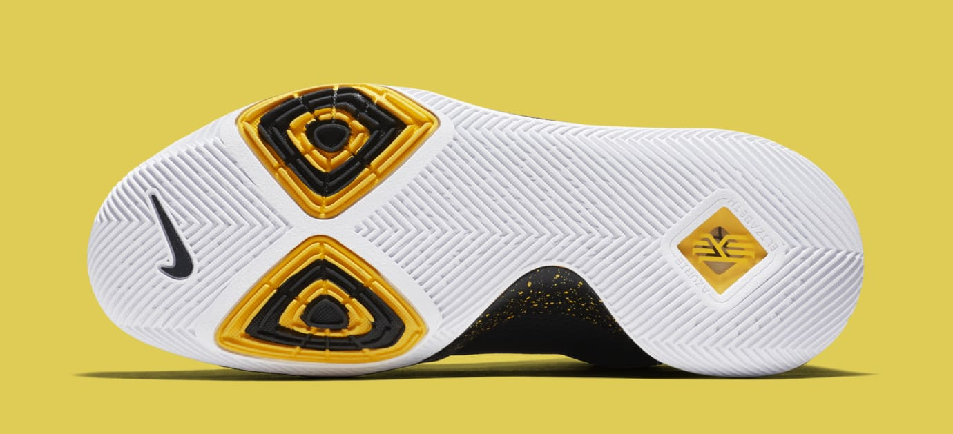 Nike Kyrie 3 Black Yellow Multicolor 852396-901 Sole