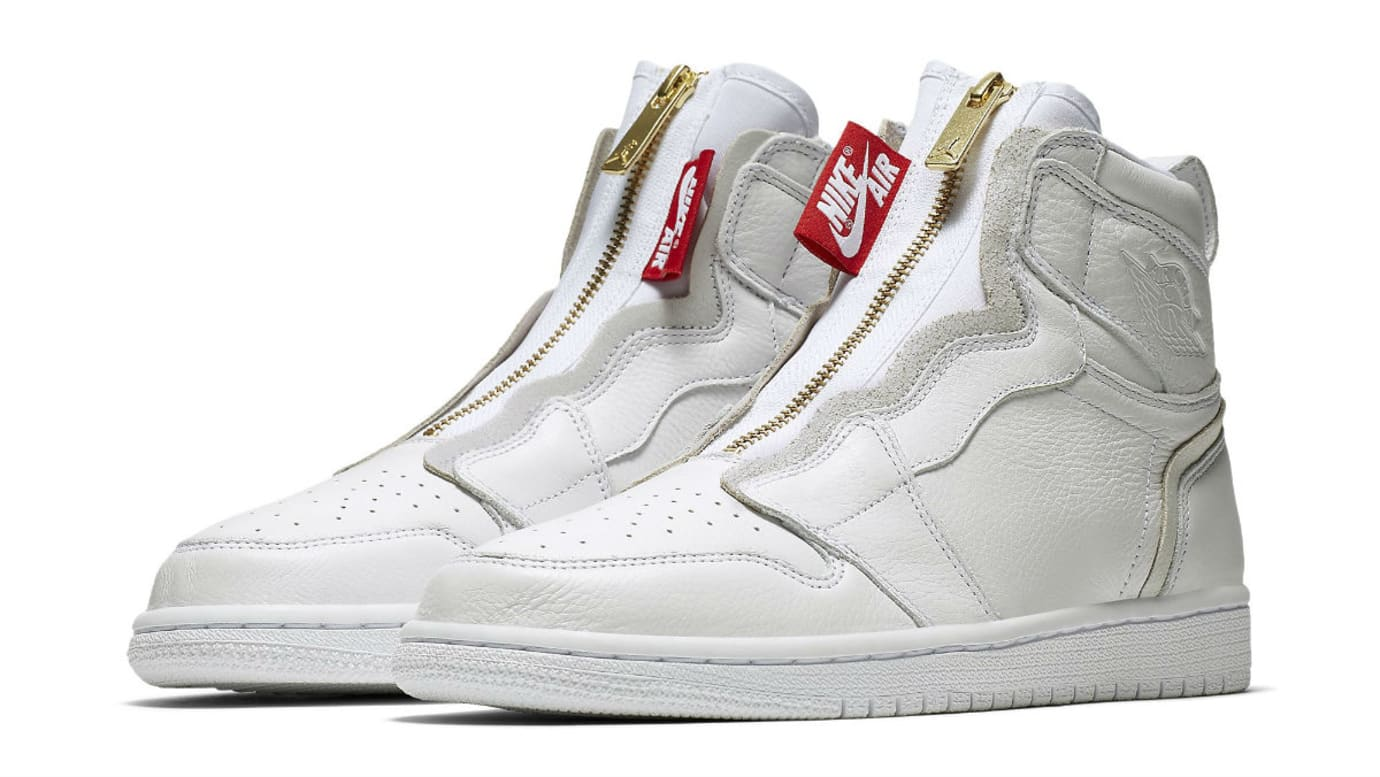 Air Jordan 1 High Zip Womens White Release Date AQ3742-116 Main