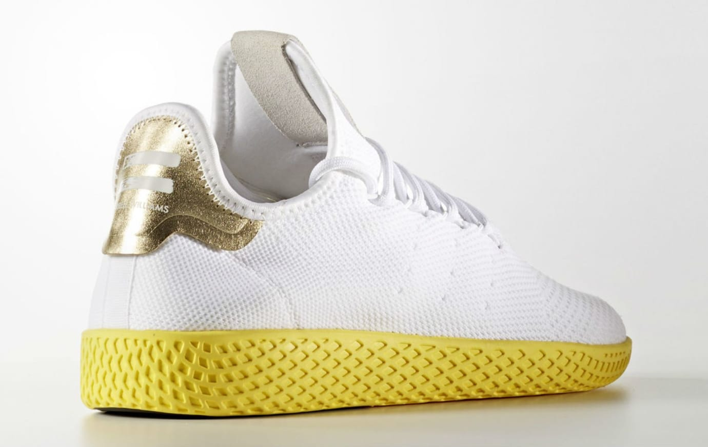 Pharrell x Adidas Tennis Hu White Yellow Release Date Lateral BY2674 6d42c433b