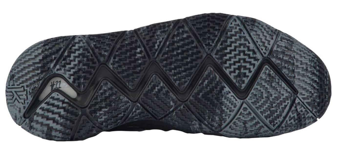 Nike Kyrie 4 Triple Black Release Date 943806-008 Sole