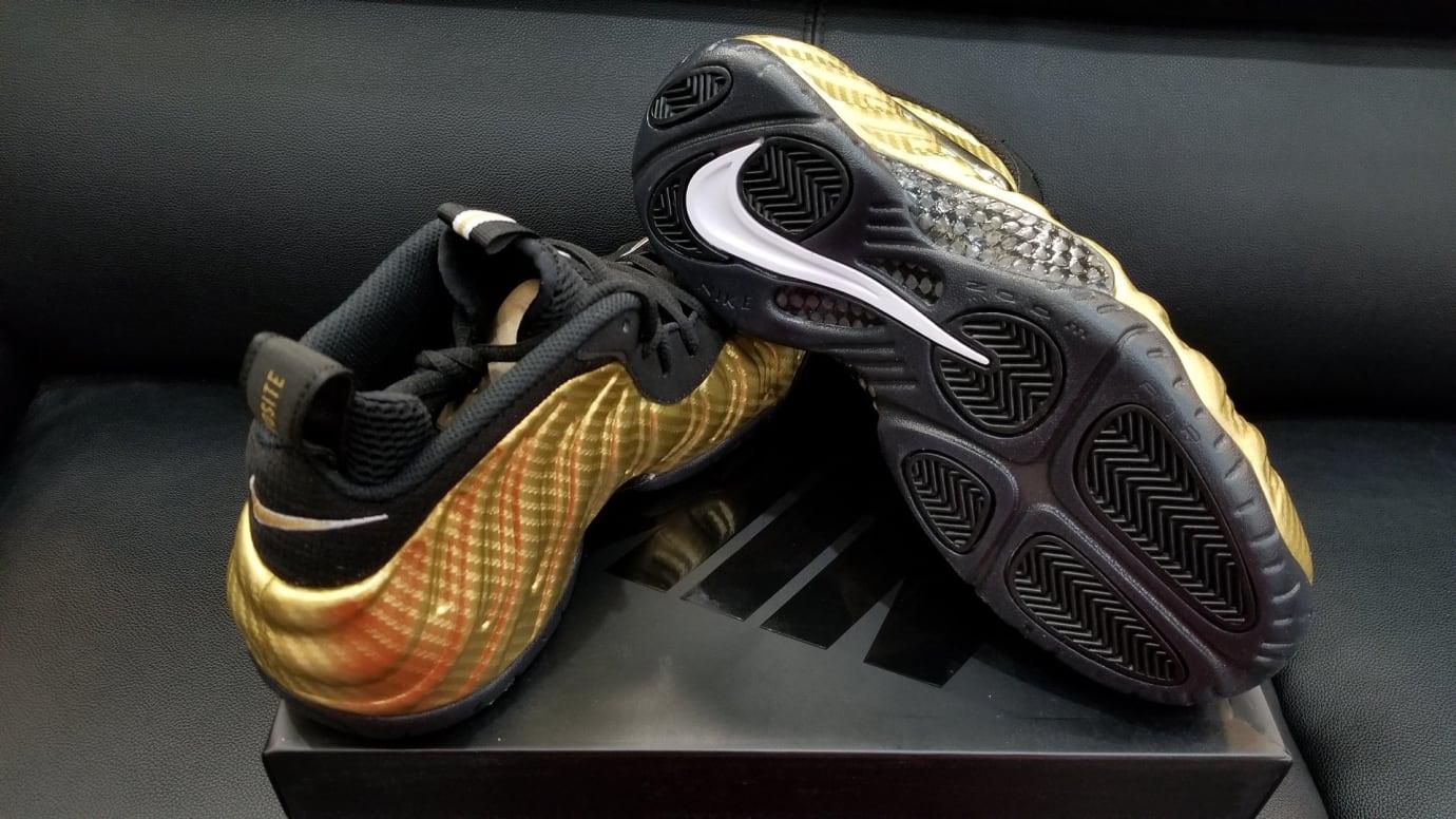 Nike Air Foamposite Pro Metallic Gold Release Date Sole 624041-701