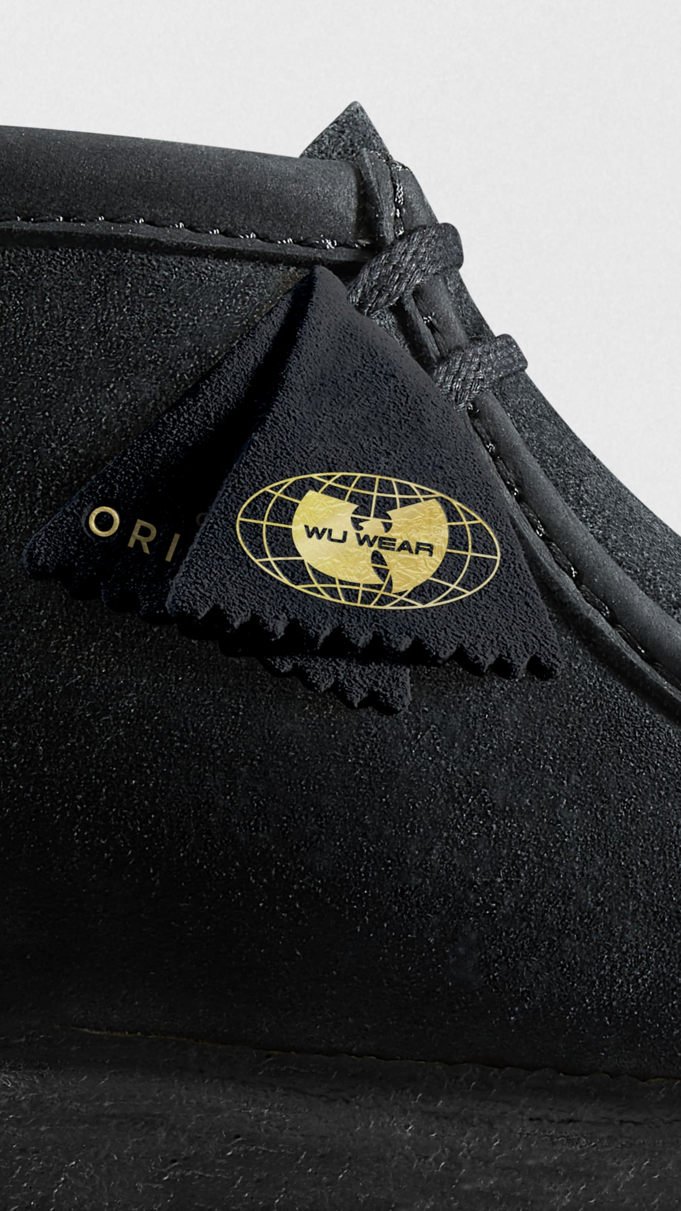 Wu-Wear x Clarks Originals Wallabee Black (Detail)