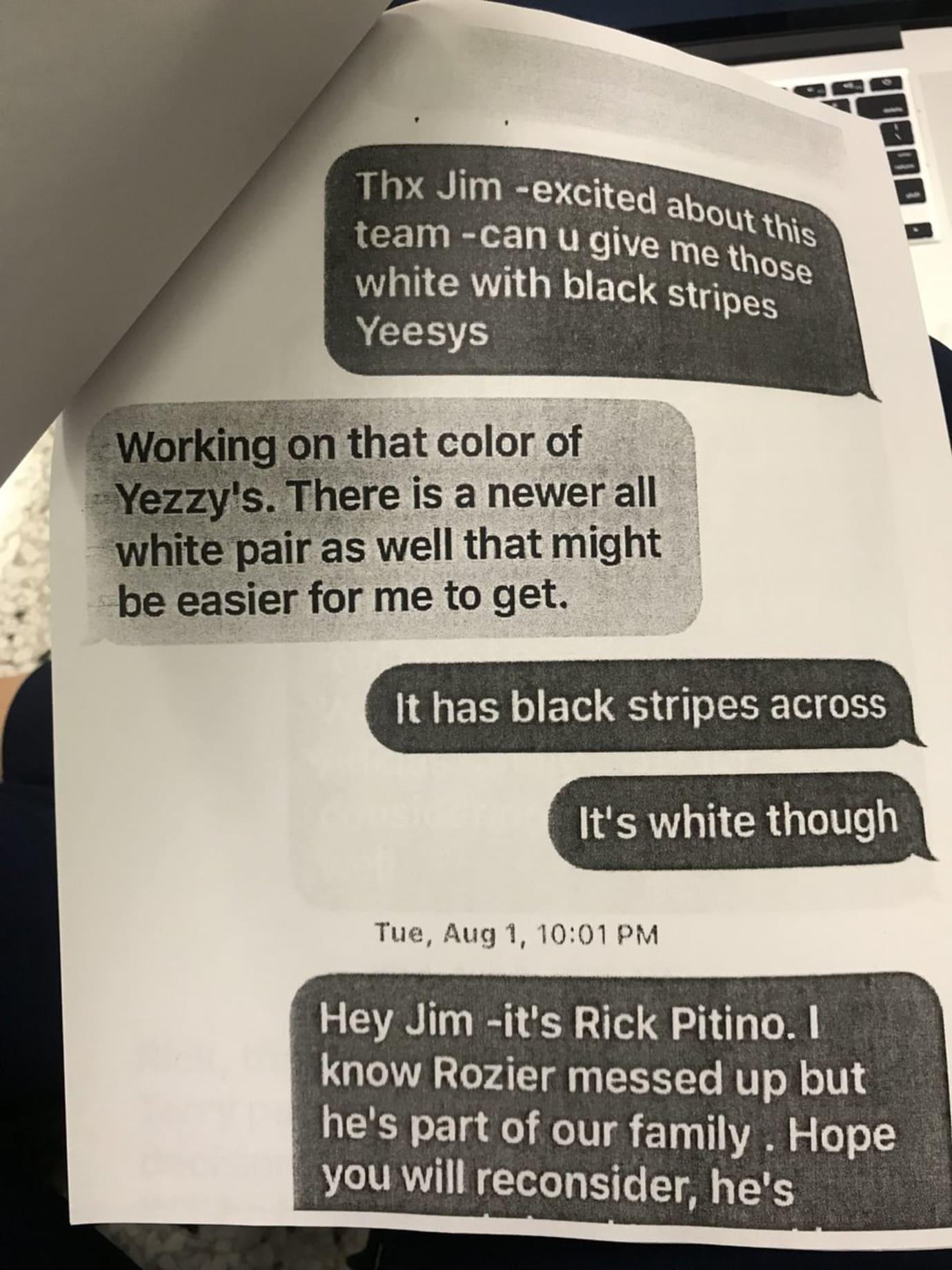 Adidas Yeezy Rick Pitino