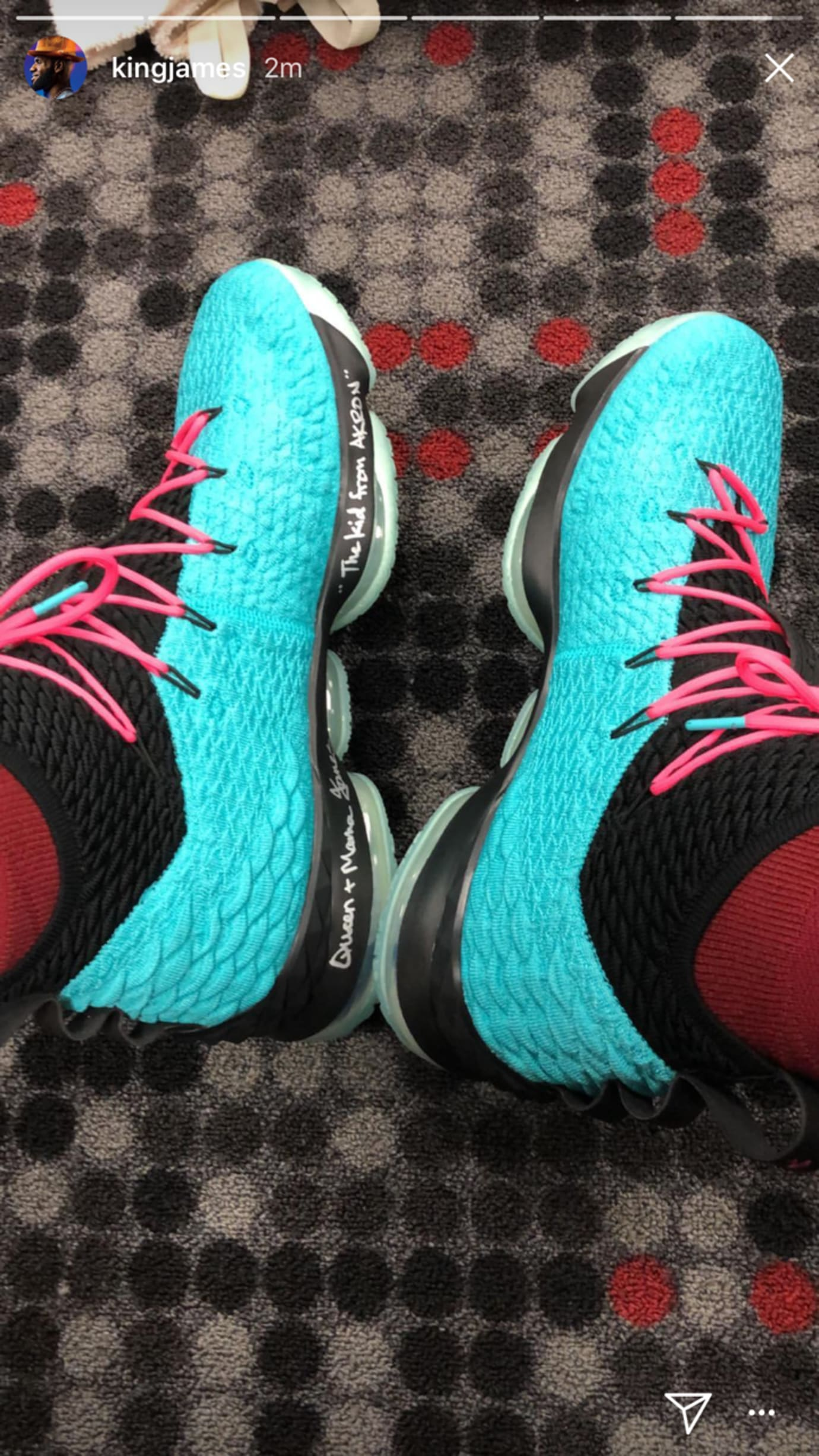 b54cf5bc414c2 Image via kingjames · Nike LeBron 15  South Beach  2