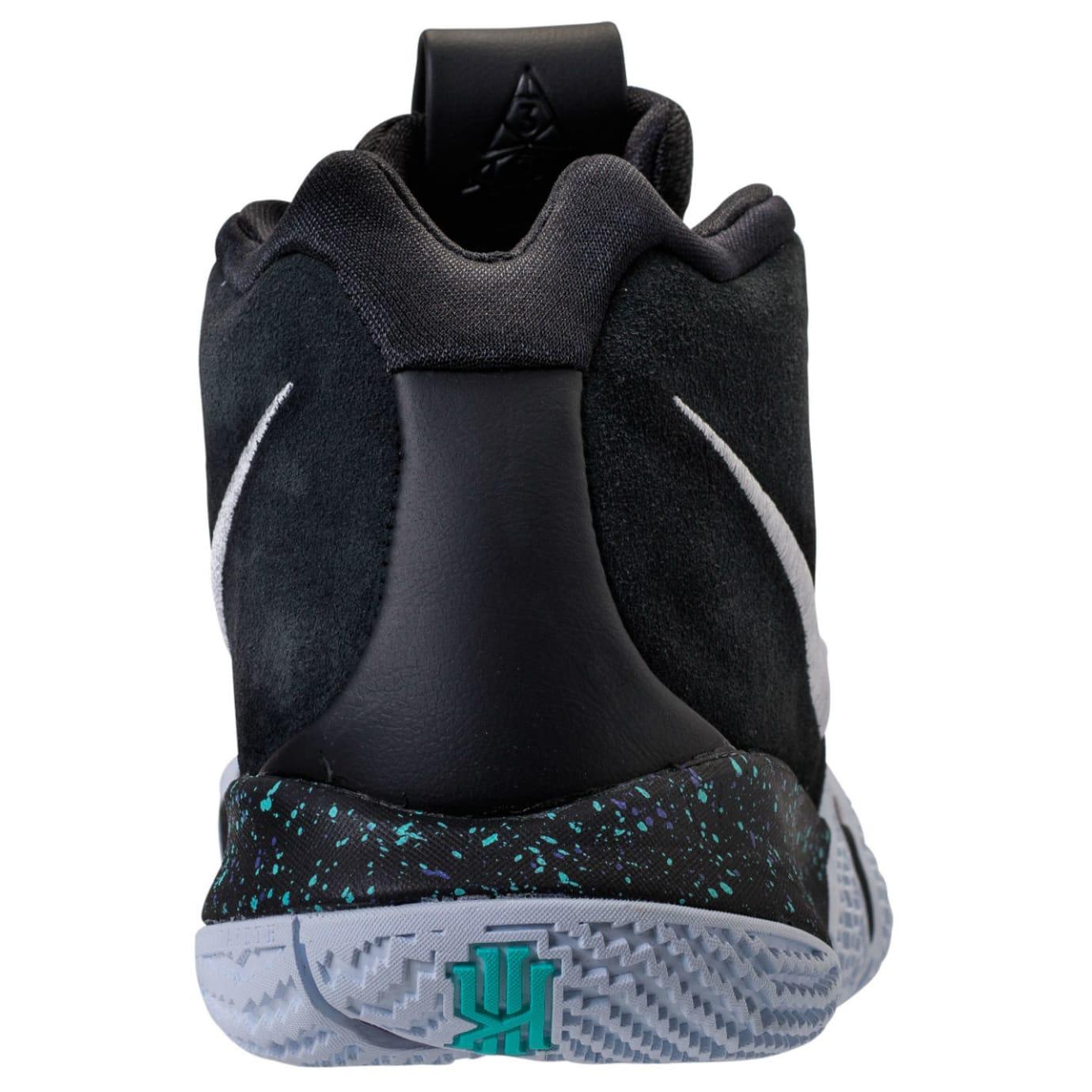 Nike Kyrie 4 Black White Release Date 943806-002 Heel