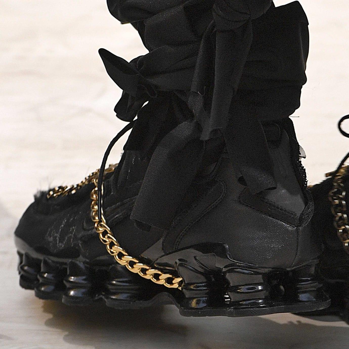 Comme des Garcons x Nike Shox Black Heel