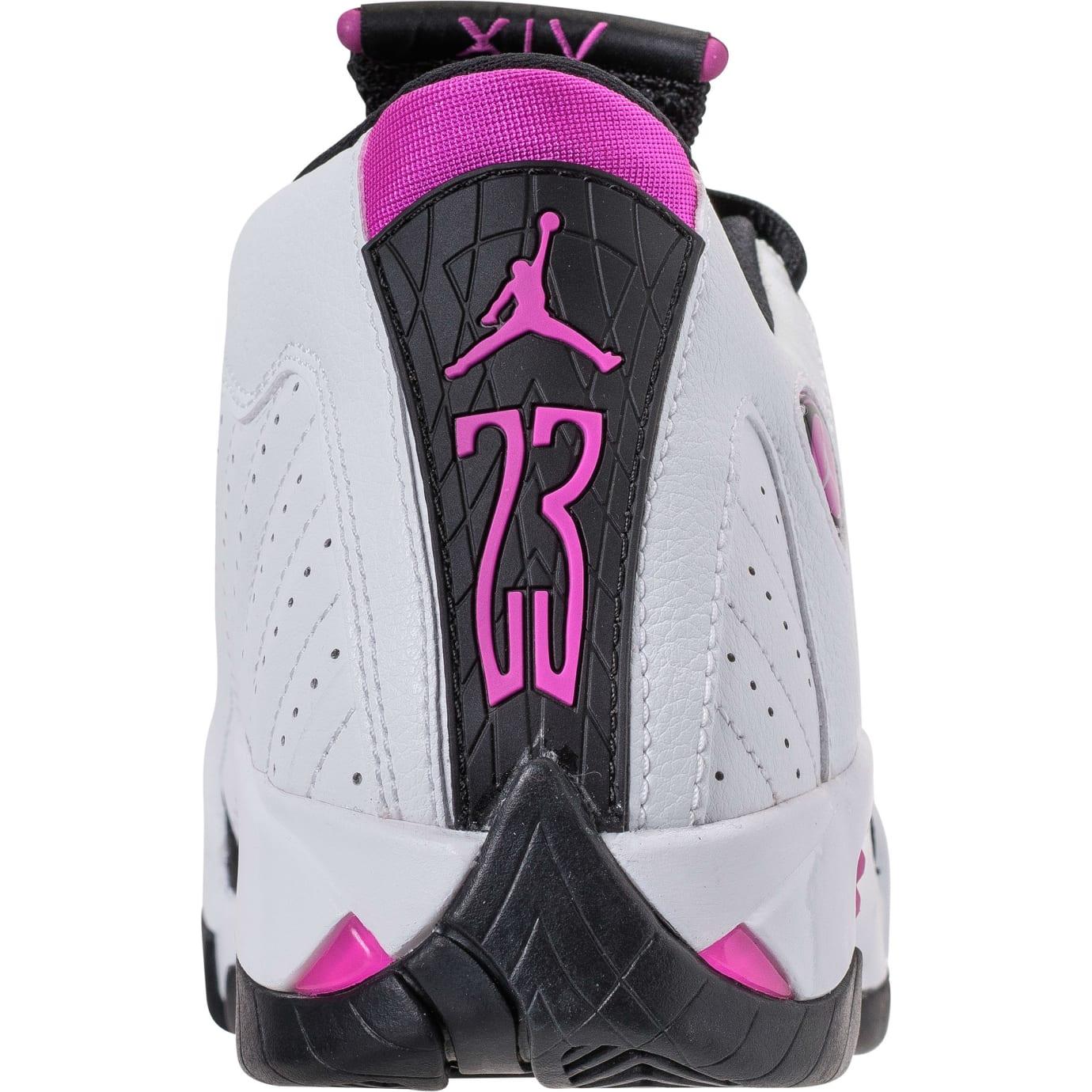 Air Jordan 14 XIV Girls Fuchsia Blast Release Date 654969-110 Heel 512390e16