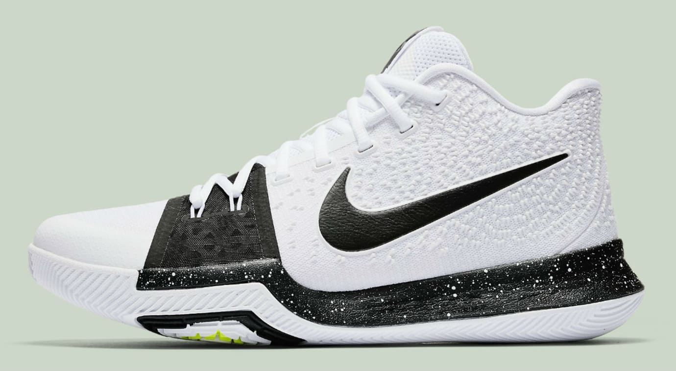 Nike Kyrie 3 White Black Volt Release Date Profile 917724-100