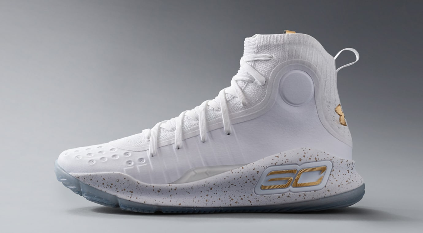 Under Armour Curry 4 White Gold Profile