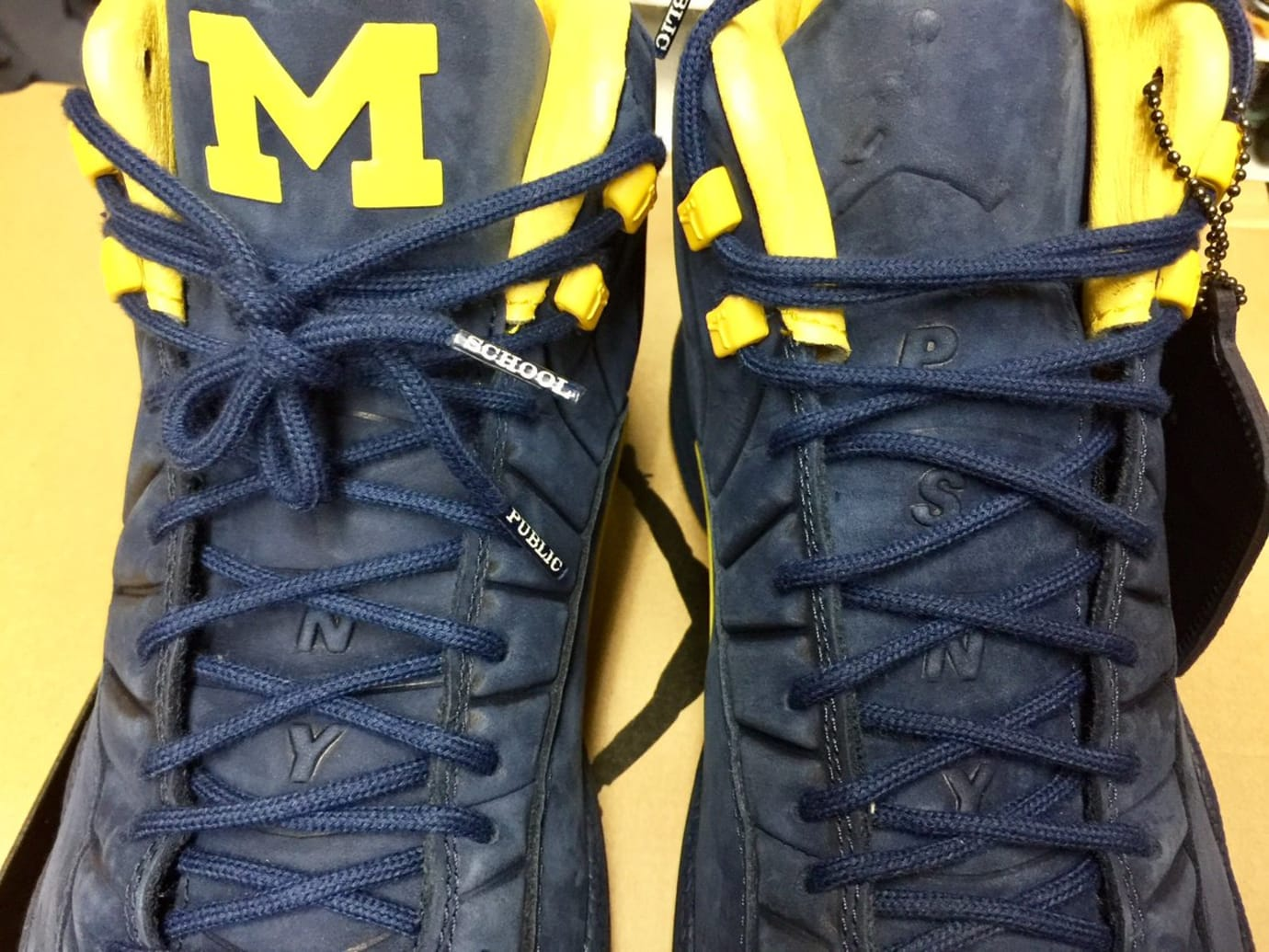 PSNY Air Jordan 12 Michigan Tongue