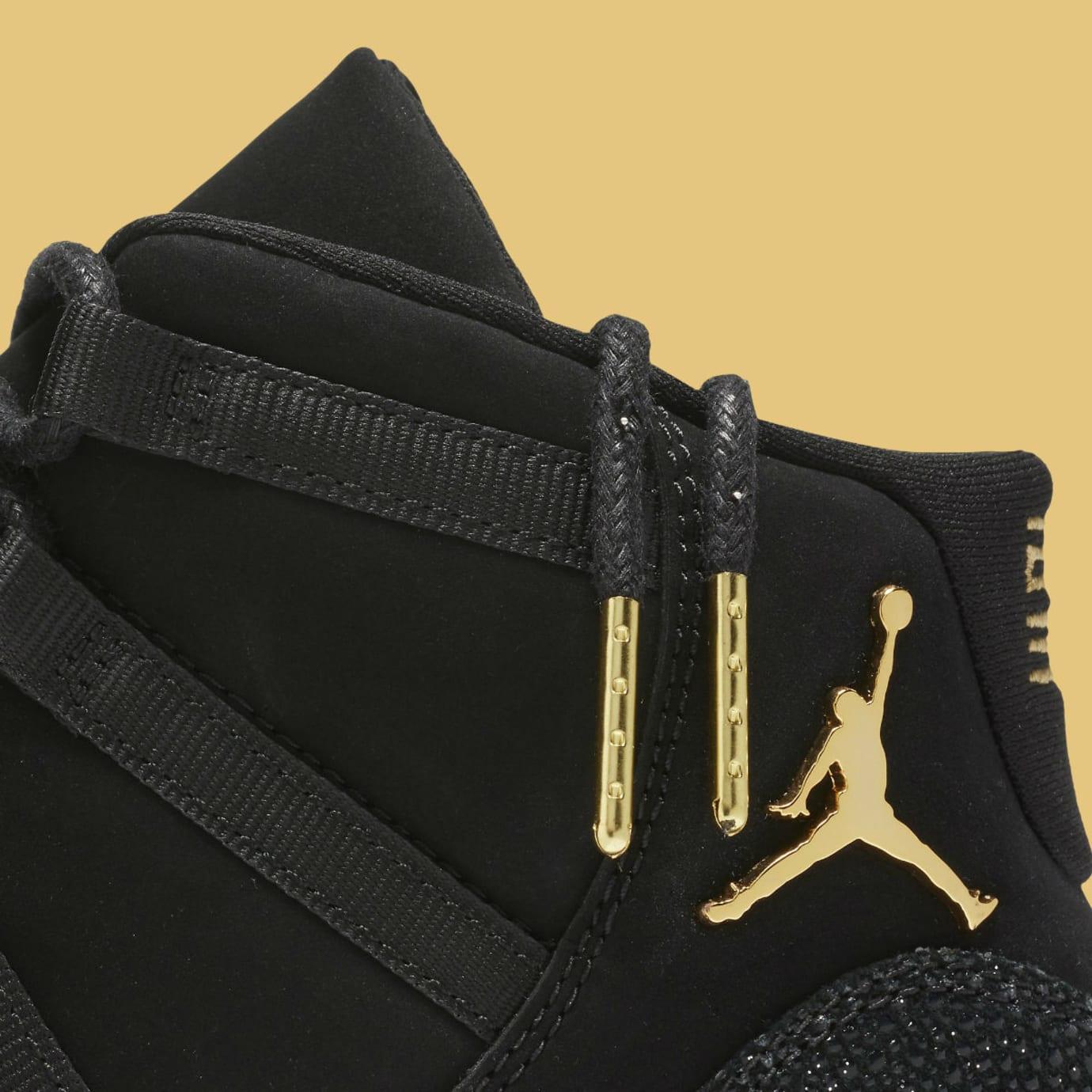 buy online fc28a 8833d Air Jordan 11 XI Heiress Black Release Date 852625-030 Laces