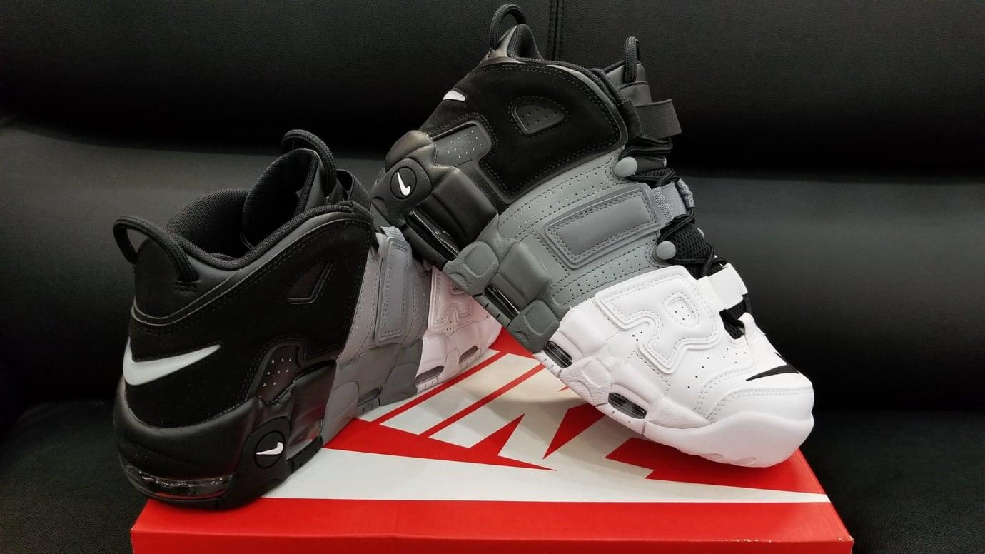 Nike Air More Uptempo Tri-Color Black Grey White Release Date Right 921948 002