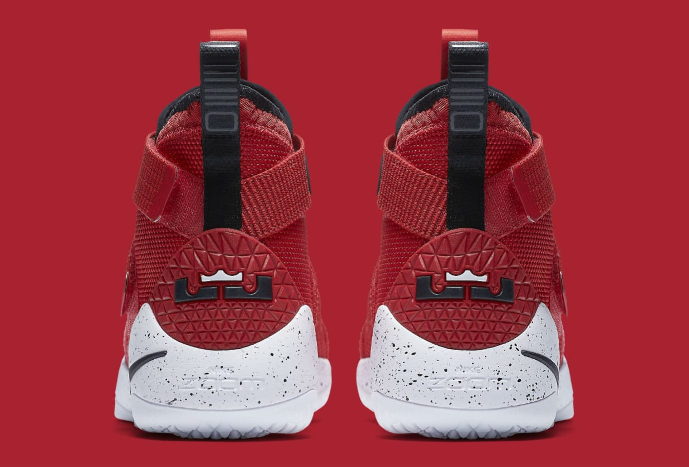 5babe77c26458 Nike LeBron Soldier 11 University Red Release Date Heel 897644-601