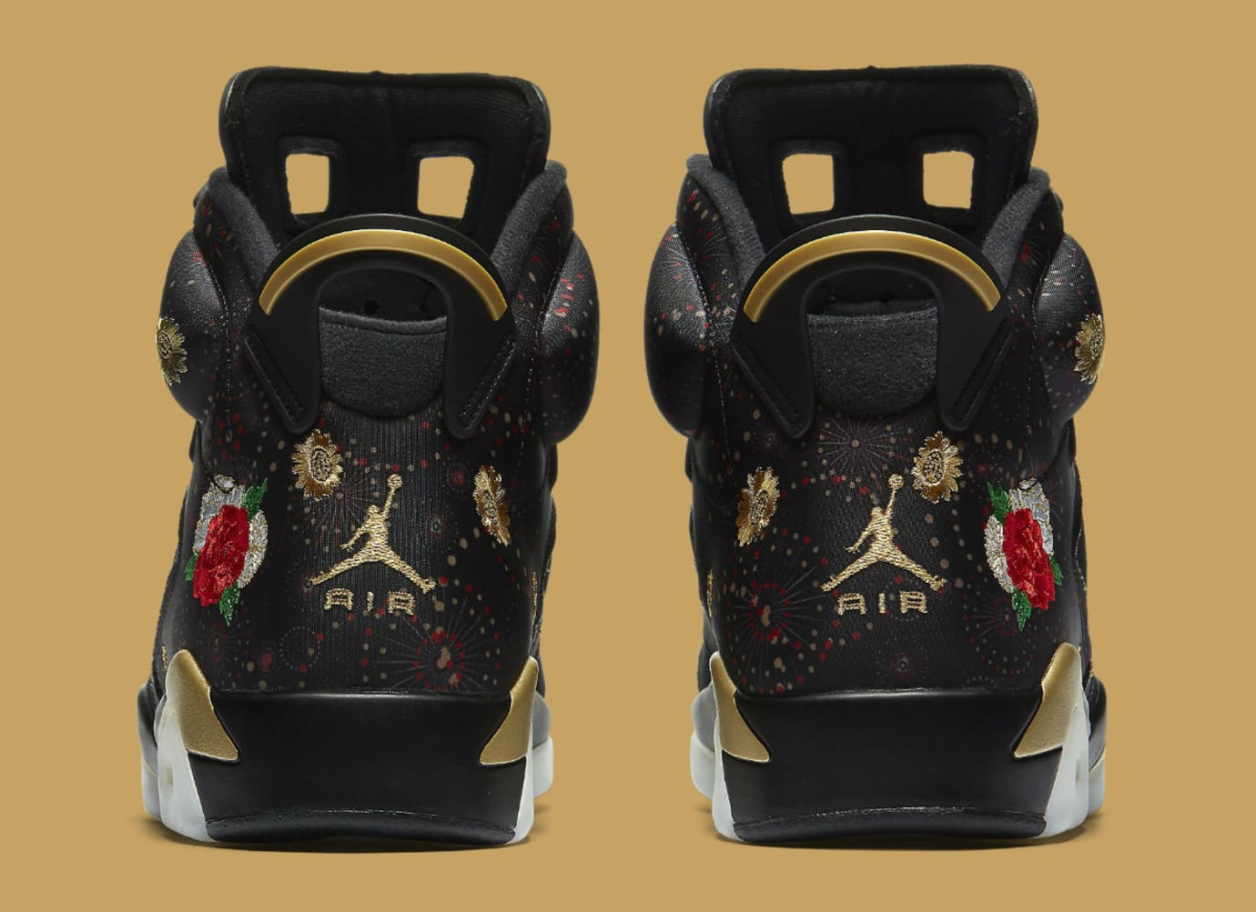 Air Jordan 6 VI Chinese New Year Release Date AA2492-021 Heel