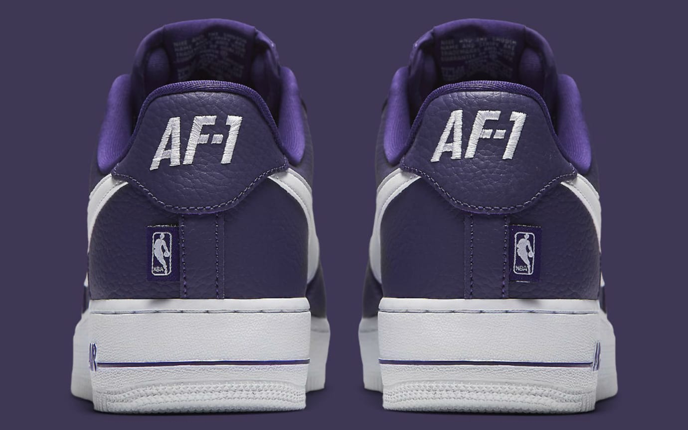 Nike Air Force 1 Low NBA Statement Game Purple Release Date Heel 823511-501