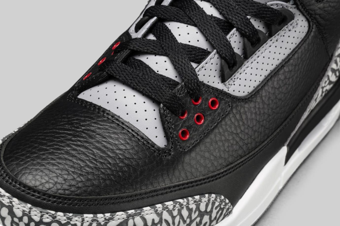 Air Jordan 3 III Black Cement Release Date 854262-001 Laces