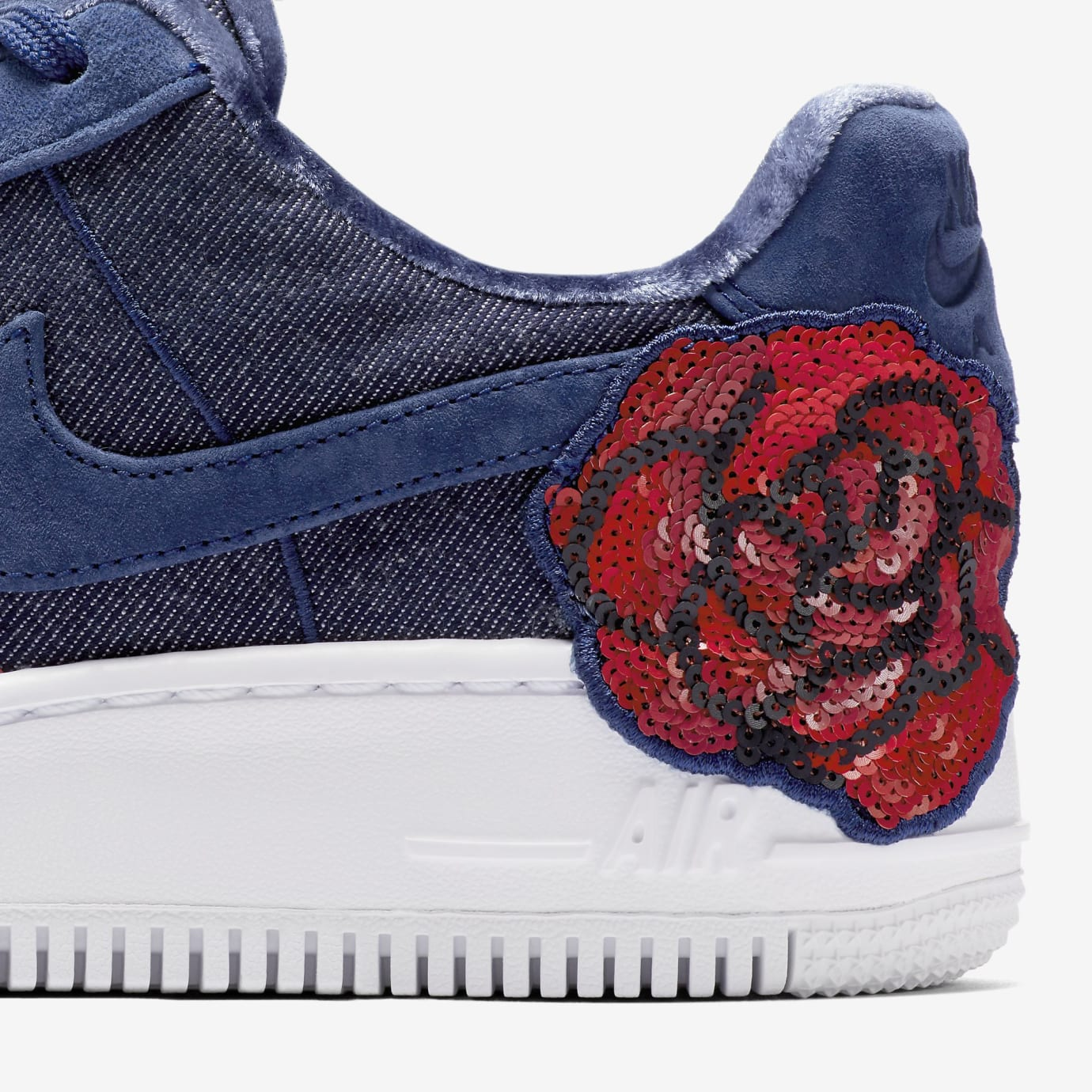 Nike Air Force 1 Low Floral Sequin Pack 898421-401 (Detail)