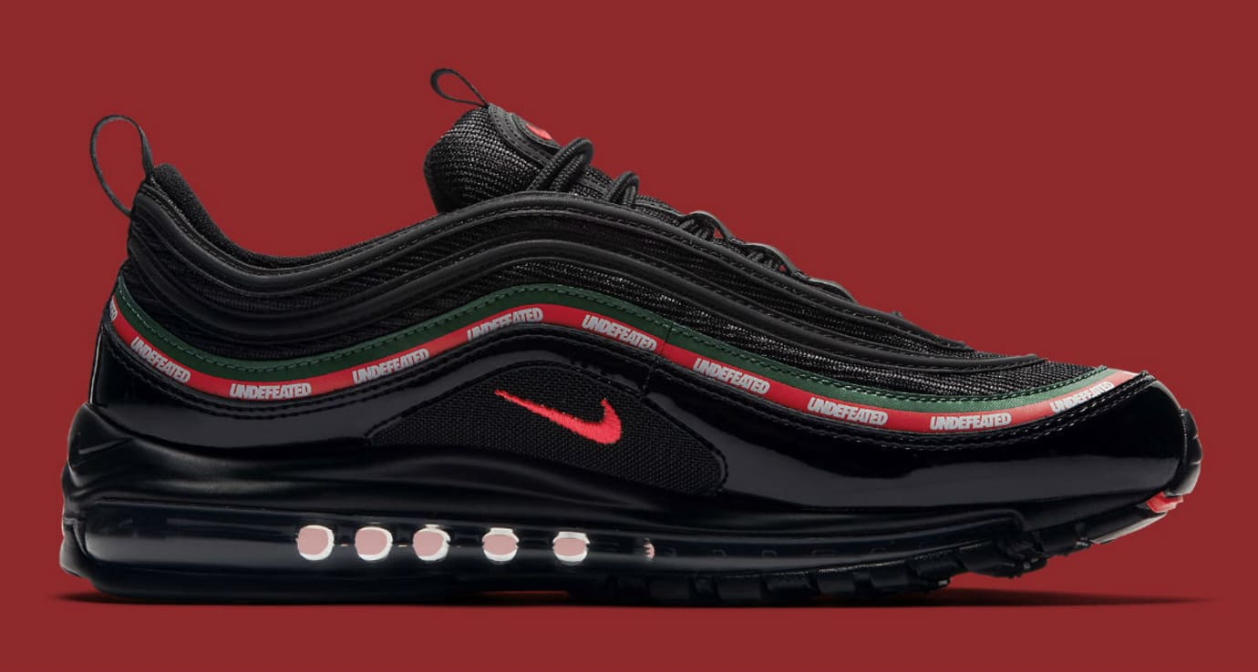 Undefeated x Nike Air Max 97 Black Release Date Medial AJ1986-001