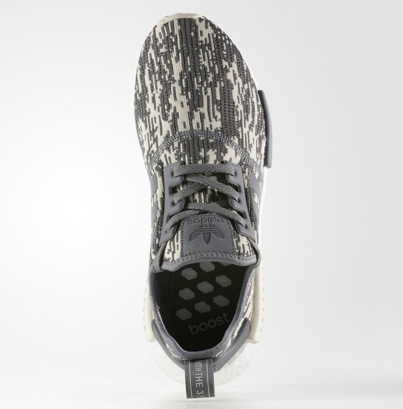 Adidas NMD Grey Linen Camo Release Date Top