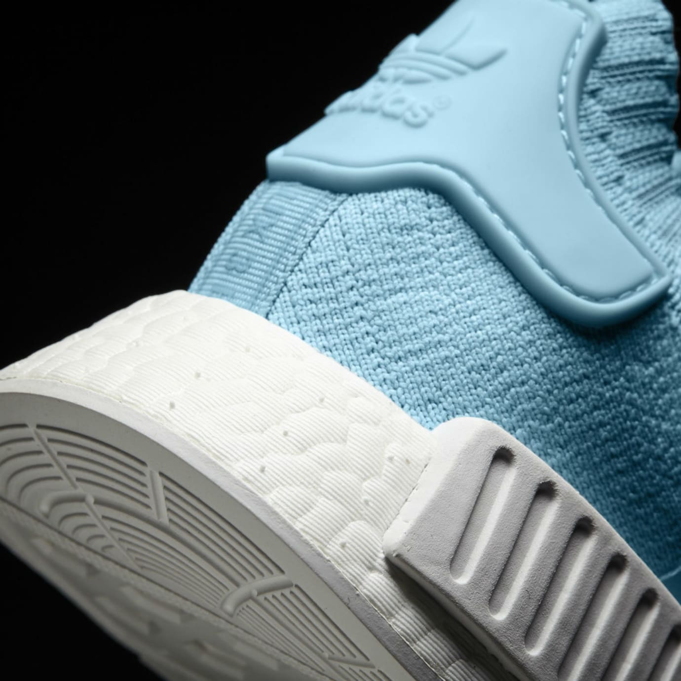 Adidas NMD R1 Primeknit Ice Blue Release Date Heel BY8763